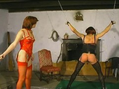Bdsm, Femdom, Old and young lesbians bdsm