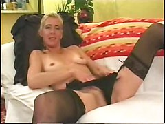 Anal, Blonde, French german granny anally fisted