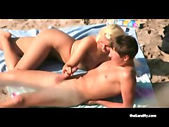 Bus, Public, Beach, Swinger mature in beach