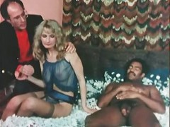 Interracial, Mature interracial gangbang