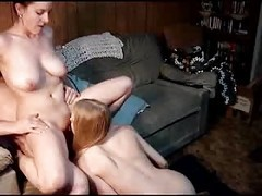 Amateur, Threesome, Blonde threesome chubby