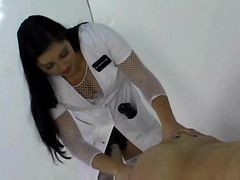 Nurse, Strapon, Busty hot doctor and nurse examine their