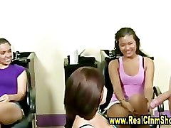 Group, Femdom, Cfnm, Cfnm asian girls humiliate guy jacking off
