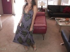 Creampie, Dress, Interrupted by sexy dressed flirty milf