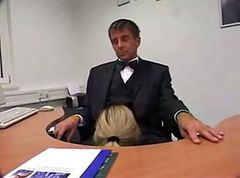 Office, Secretary, Milf, Business couple amp their horny secretary