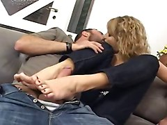 Footjob, Office footjob
