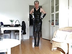 Black, Leather, Dress, Leather boots