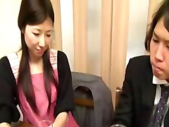 Husband, Wife, Japanese fucked in front of husband