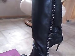 Panties, Leather, Dildo, Femdom leather