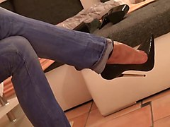 Jeans, Heels, Tight, Japanese in high heels