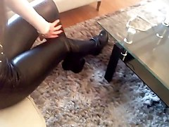 Boots, Leather, Heels, Leather catsuit