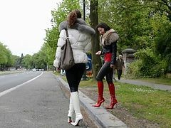 Boots, Leather, Hooker, Leather blonde