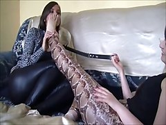 Lesbian, Slave, Lesbian slaves in pain extreme training and