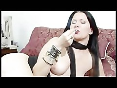Boots, Goth, Smoking, Pierced goth kinky pissing fist