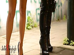 Boots, Leather, Hooker, Tera patrick leather