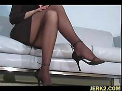 Office, Stockings, Strapon with punish in office