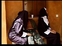 Nun, Latex rubber hood mask deep throut compilation