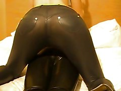 Panties, Leather, Couple, Leather interracial