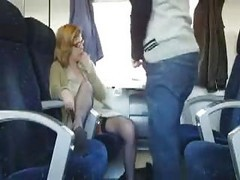 Bus, Public, Milf, Wife pulls train