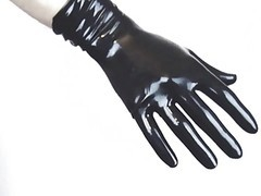 Panties, Latex, Gloves, Ebony gloves