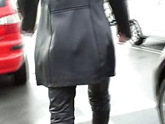 Leather, Big tits in leather