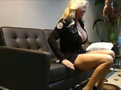 Police, Police woman fuck strapon