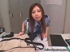 Asian, Blowjob, Office, Office feet