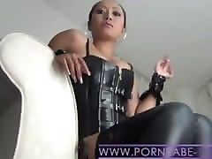 Smoking, Leather, Femdom, Cuckold extreme humiliation