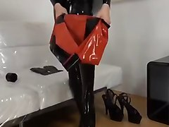 Fetish, Rubber, Latex, Pierced latex