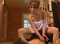 Anal, French, Milf, In the gym