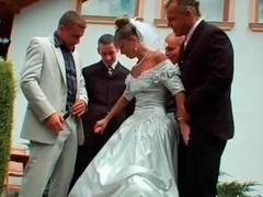 Gangbang, Bride, Wedding, Wedding swingers