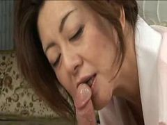 Asian, Granny, Japanese, Japanese oil massage and fuck