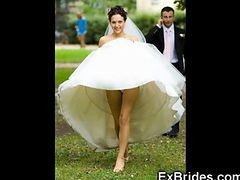Upskirt, Bride, Wedding, Bride cum