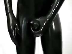 Panties, Latex, Gloves, Latex and rubber hooded