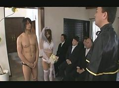 Asian, Gangbang, Japanese, Nude wedding