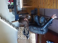 Boots, Leather, Leather cumshot