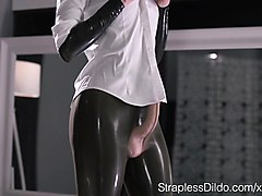 Latex, Strapon, Mature ffm latex