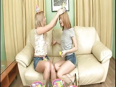 Anal, Twins, Teen, Strapn twins