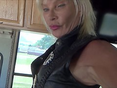 Leather, Shemale, Denim leather