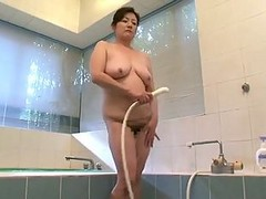 Asian, Masturbation, Shower, Son mom and aunt