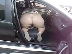 Czech outdoor suck in a car
