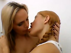 Brazil, Lesbian, Kissing, Brazilian lesbian gagging with the hand
