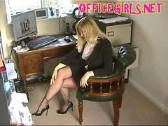 Black, Stockings, Secretary, German secretary valeriea ass fucked