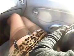 Car, Stockings, Flashing car