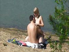 Amateur, Beach, Wife fucked while man is in the house