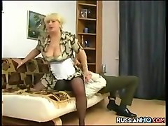 Maid, Wife and husband fuck their maid
