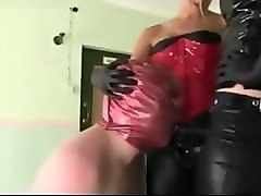 69, Babe, Slave, Catwoman ties up sissy slave