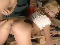 Anal, Blonde, Double Anal, German double anal
