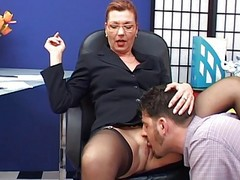 Ass, Secretary, Mature, Boss gets anal from secretary