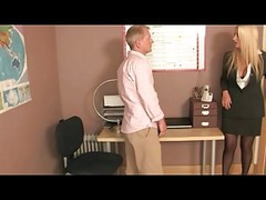 Office, Femdom, Stockings, Interracial stockings